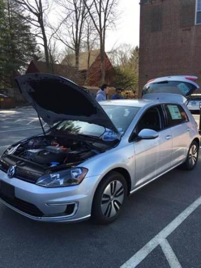 Electric car on display